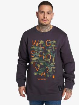 Who Shot Ya? Пуловер Shotulous серый
