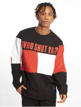 Who Shot Ya? Pullover Block schwarz