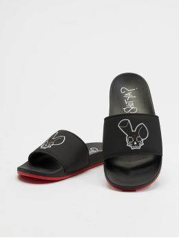 Who Shot Ya? Sandals Logo black