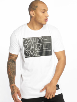 Who Shot Ya? T-Shirt Sling  blanc