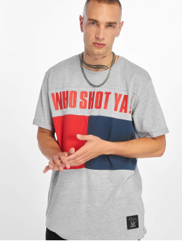 Who Shot Ya? T-Shirty Block szary