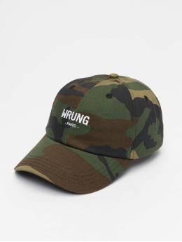 Wrung Division Snapback Cap Camo mimetico