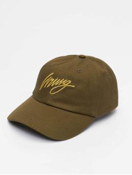 Wrung Division Snapback Caps Sign Logo khakiruskea