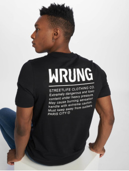 Wrung Division T-shirt Caution nero