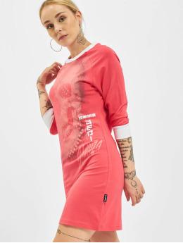 Yakuza Šaty Glowing Skull Bodycon pink
