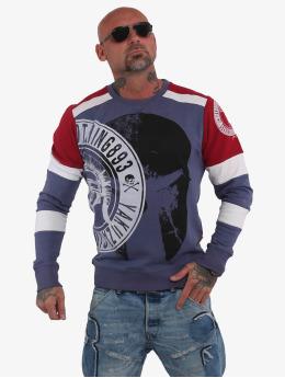 Yakuza Пуловер Spartan Two Face  синий