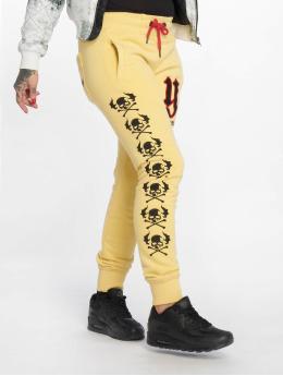 Yakuza Спортивные брюки Lil Flying Skull желтый