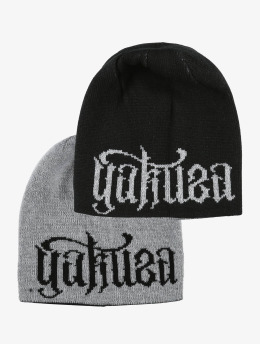 Yakuza Beanie Branding Reversible Knit schwarz