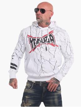 Yakuza Bluzy z kapturem Toxin  bialy