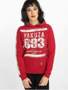 Yakuza Bluzy z kapturem Between The Lines  czerwony