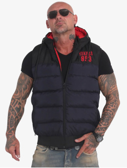 Yakuza Bodywarmer Fck Society Quilted Hooded blauw