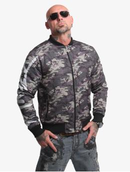 Yakuza Bomber jacket Stealth Skull camouflage