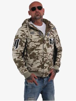 Yakuza Bomber jacket Old Fashion Winter camouflage