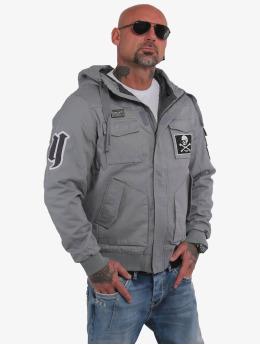 Yakuza Bomber jacket Old Fashion grey
