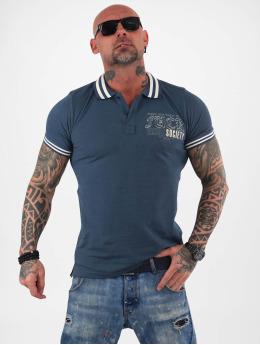 Yakuza Camiseta polo Fuck Society Pique azul
