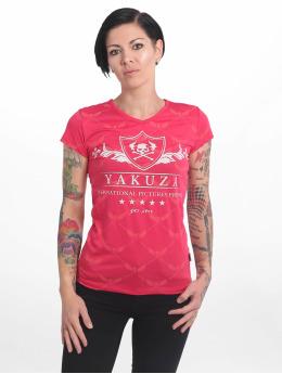 Yakuza Camiseta Crests V Neck rojo