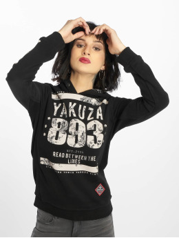 Yakuza Hoody Between The Lines zwart