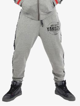 Yakuza Jogging kalhoty Bad Side šedá