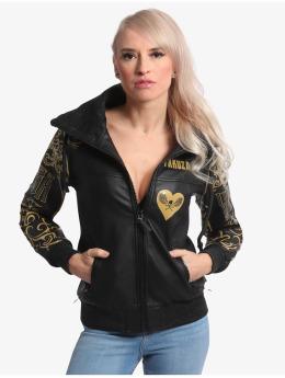 Yakuza Leather Jacket Golden Tribe black
