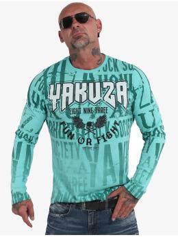 Yakuza Longsleeves Fun Or Fight turkusowy