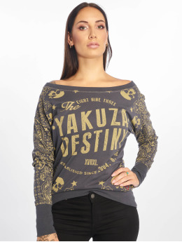 Yakuza Maglietta a manica lunga Tijuana Boyfriend grigio