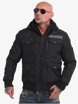 Yakuza Manteau hiver Horned  noir