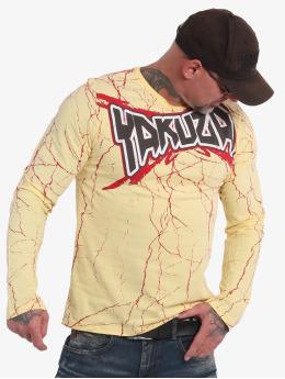 Yakuza Pitkähihaiset paidat Toxin  keltainen