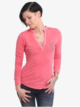 Yakuza Pitkähihaiset paidat Rose Of 893  vaaleanpunainen
