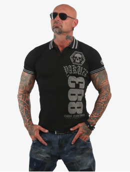 Yakuza Poloshirt Cross  schwarz