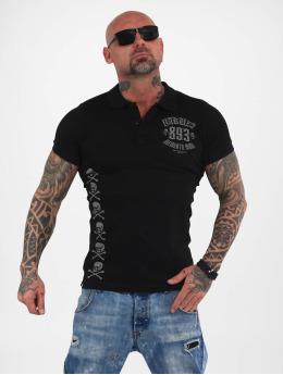 Yakuza Poloshirt Menento Mori Pique schwarz
