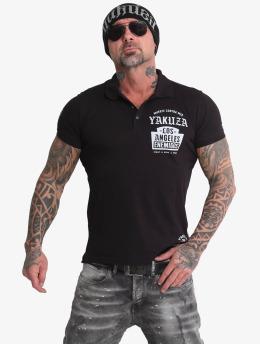 Yakuza Poloshirt Sometimes  schwarz