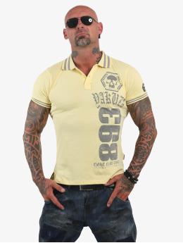 Yakuza Poloshirt Cross  yellow