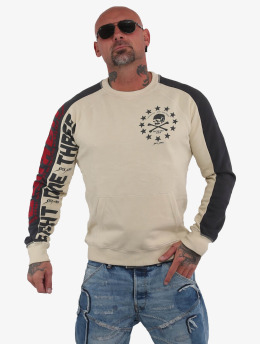 Yakuza Pullover 893 Two Face Raglan Pouch beige