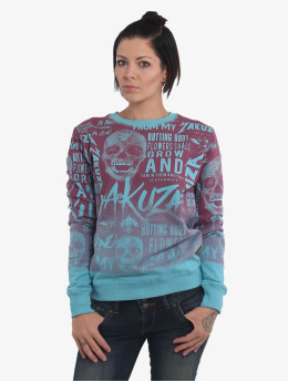 Yakuza Pullover Rotting Body Gradient  blue