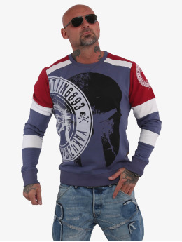 Yakuza Pullover Spartan Two Face  blue