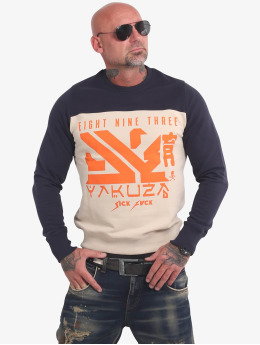 Yakuza Pullover Nippon Two Face grey