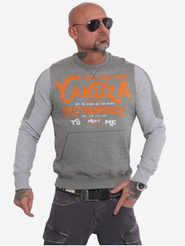 Yakuza Puserot Brotherhood Jumper harmaa