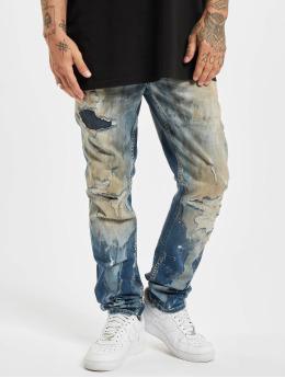 Yakuza Rovné Talquito Straight Fit Jeans modrá