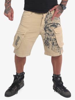 Yakuza Shorts Indian Skull beige