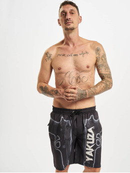 Yakuza Shorts Gaucho schwarz