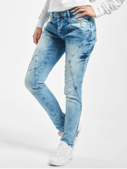Yakuza Slim Fit Jeans Vintage blauw