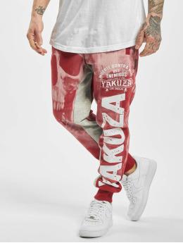 Yakuza Spodnie do joggingu Muerte Skull czerwony