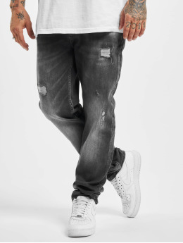 Yakuza Straight Fit Jeans Straight Fit  čern