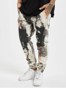 Yakuza Straight Fit Jeans Pescado Jogging bílý