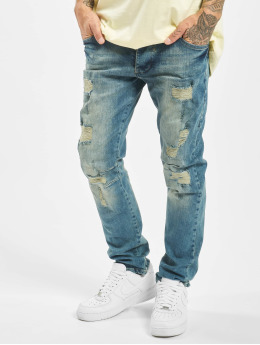 Yakuza Straight Fit Jeans Biker blå