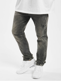 Yakuza Straight Fit Jeans Biker Flap black