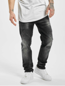 Yakuza Straight Fit Jeans Destroyer  black