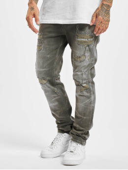 Yakuza Straight fit jeans 420  grijs