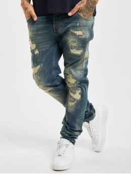 Yakuza Straight Fit Jeans 420  modrý