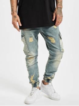 Yakuza Straight Fit Jeans Kokoma Cargo Grip Fit modrý